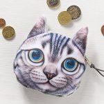 Kočičí peněženka na drobné – model – 2