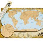 Stírací mapa světa – LUXUSNÍ ČESKÁ VERZE